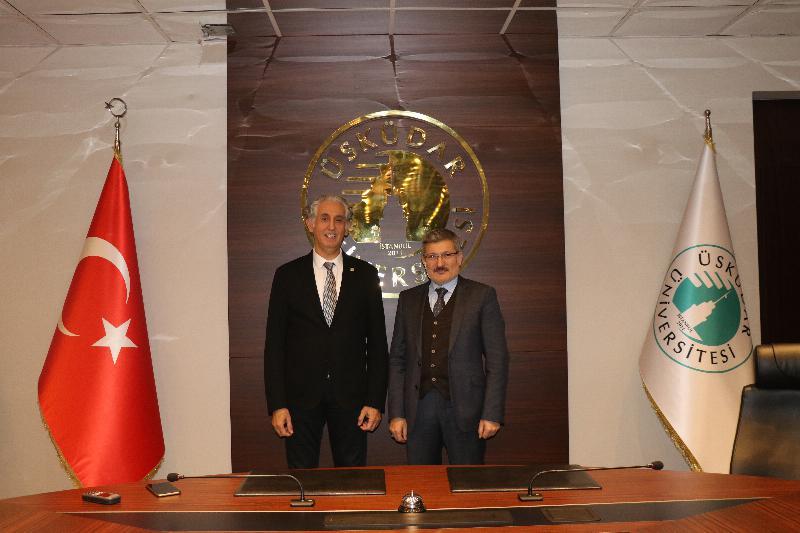 Pendik Belediye Başkanı Kenan Şahin Üsküdar Üniversitesini ziyaret etti