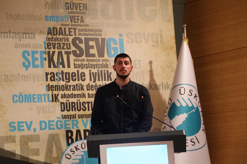 """Üsküdar Üniversitesinde """"Gençlik ve İman"""" konuşuldu"""