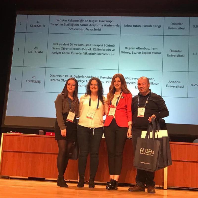 Üsküdar Üniversitesi DKT öğrencileri başarılı bildirileri ile ödüllendirildi