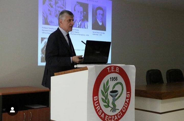 Prof. Dr. Tayfun Uzbay Bursa'da Eczacılar ile bir araya geldi