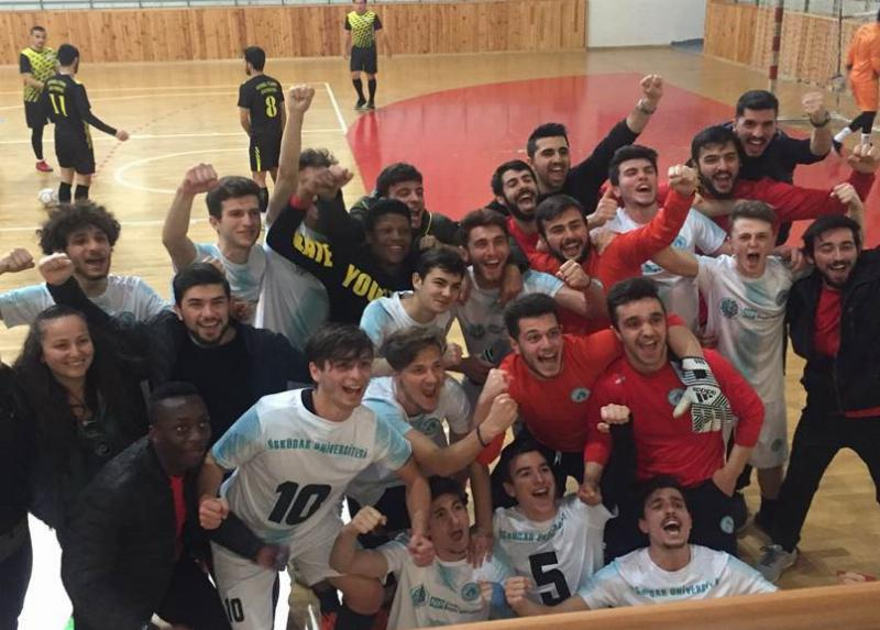 Üsküdar University Men's Futsal team reached semifinals