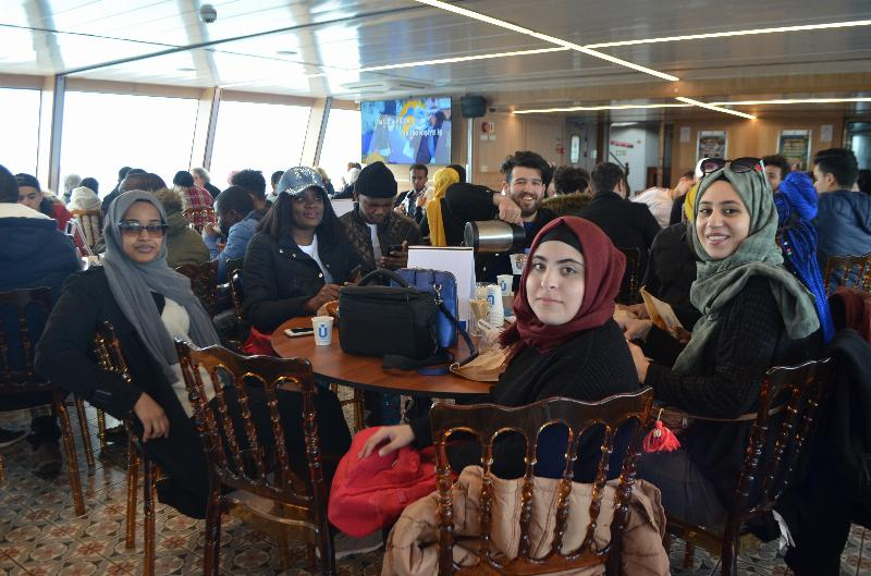 ÜSTÖMER students enjoyed a trip at Bosporus 2