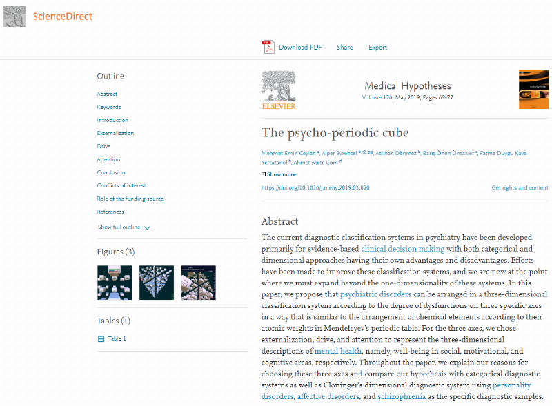 """The Psycho-Periodic Cube"" is featured in international journal"