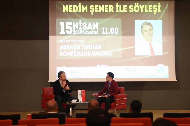 Gazeteci Nedim Şener Üsküdarlı öğrencilerle buluştu