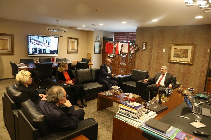 Emniyet Müdürü Mustafa Çalışkan'dan Tarhan'a ziyaret