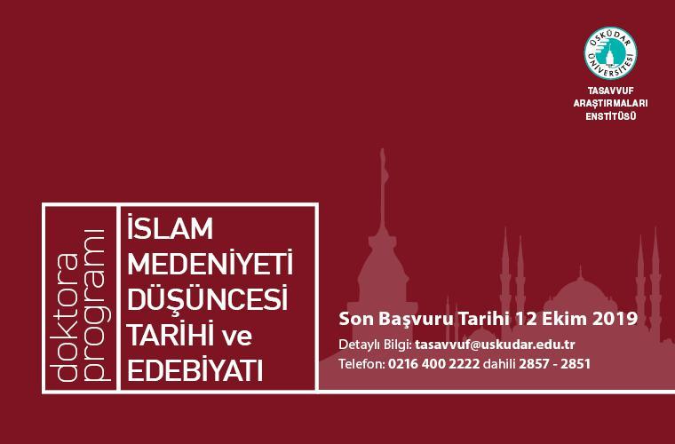 İslam Medeniyeti Düşüncesi Tarihi ve Edebiyatı