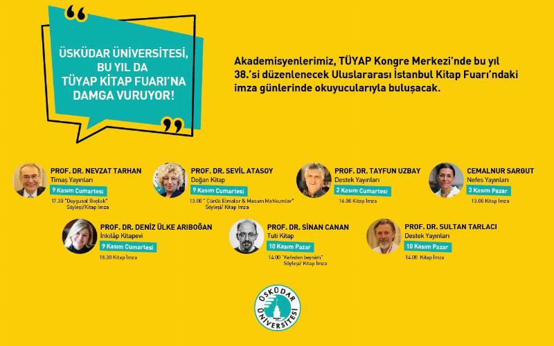 Üsküdar Üniversitesi yazarları TÜYAP Kitap Fuarında…