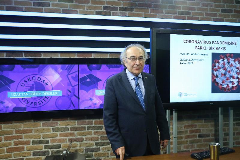 E-KÜRSÜ'nün ilk konuğu Prof. Dr. Nevzat Tarhan ÜÜTV'de öğrencilerle buluştu