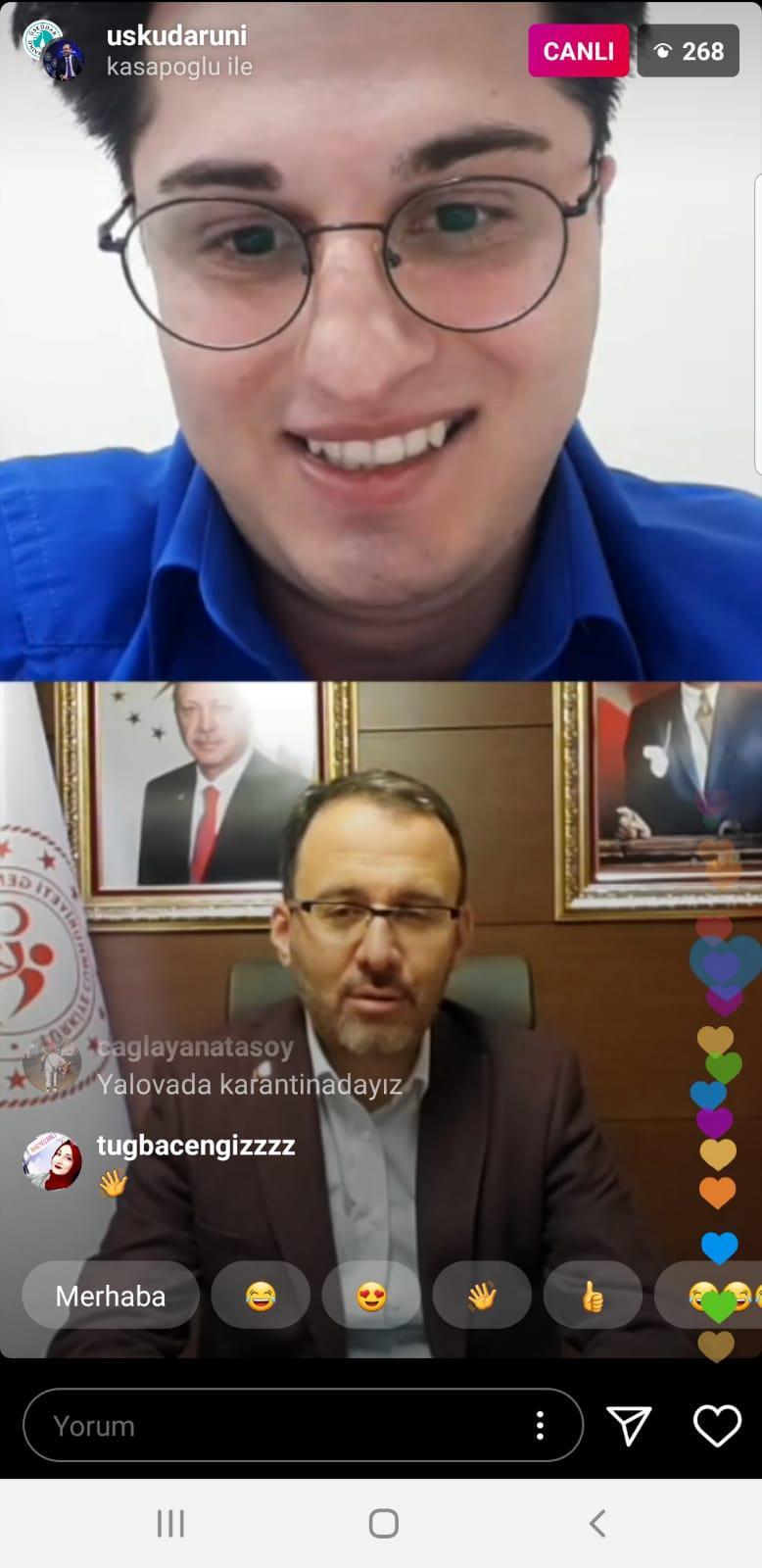 Gençlik ve Spor Bakanı Kasapoğlu, öğrencilerimizle buluştu...