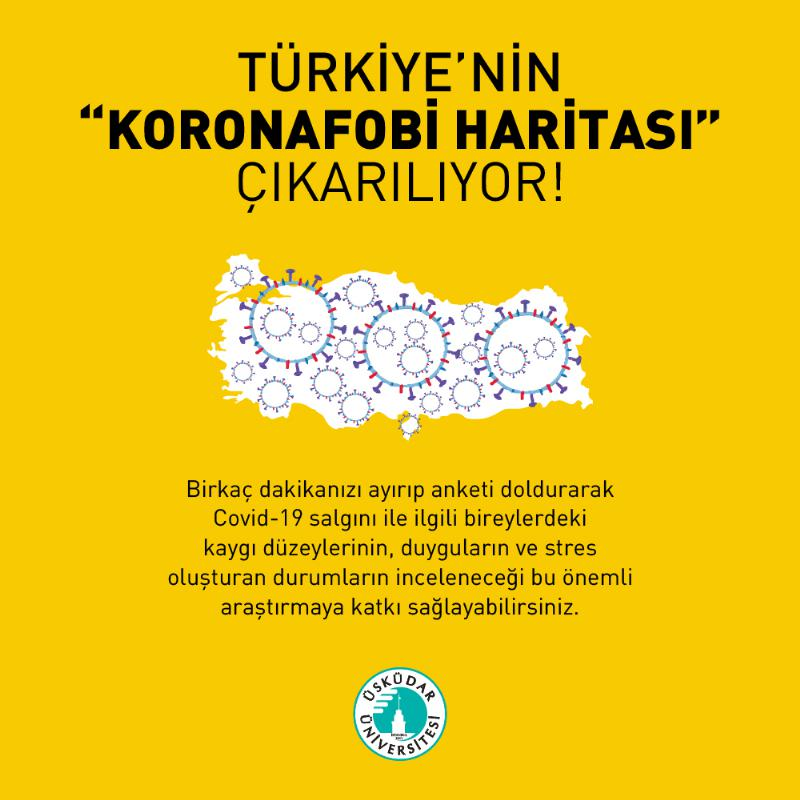 """Türkiye'nin """"Koronafobi Haritası"""" çıkarılıyor!"""