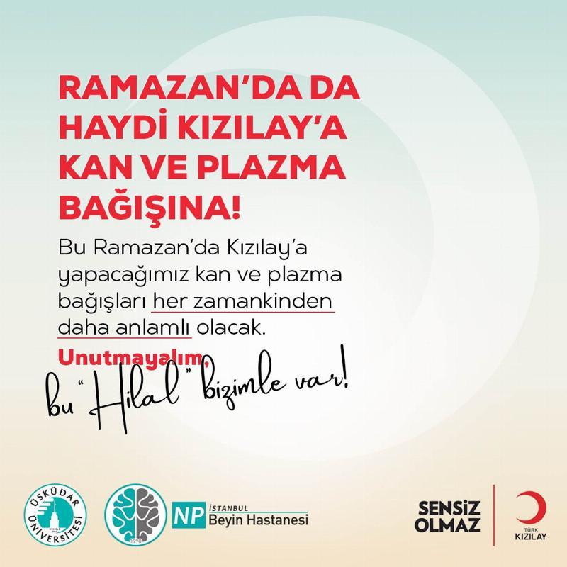 Üsküdar Üniversitesi ve NPİSTANBUL Beyin Hastanesi, Kızılay'ın başlattığı seferberliğe destek oluyor