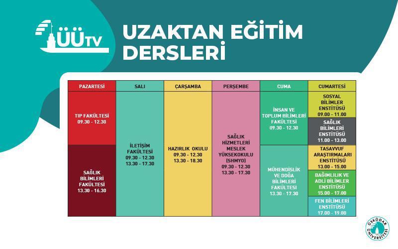 ÜÜTV Online Ders Programı