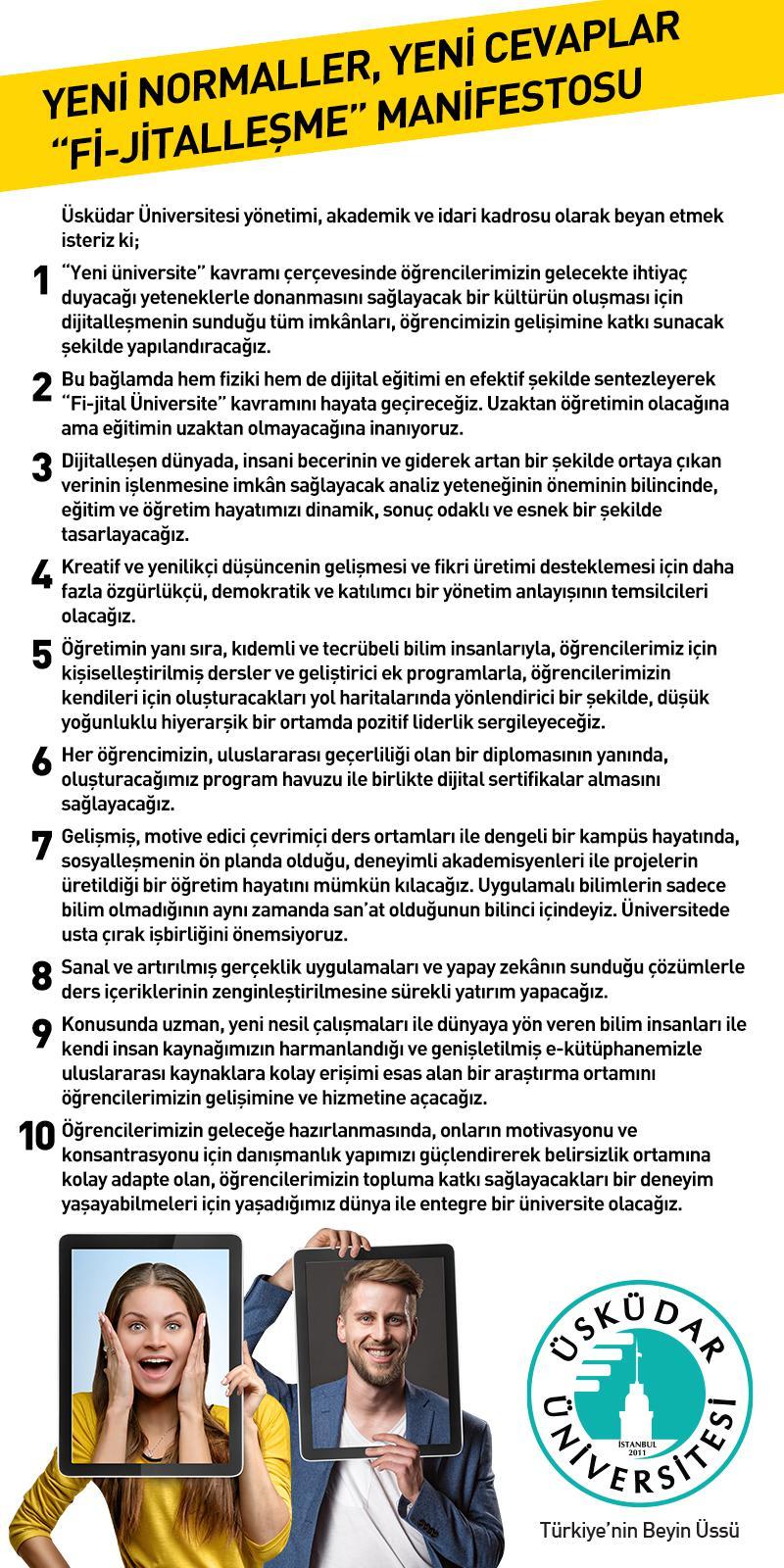 """Üsküdar Üniversitesi'nden """"Fi-jitalleşme Manifestosu"""""""