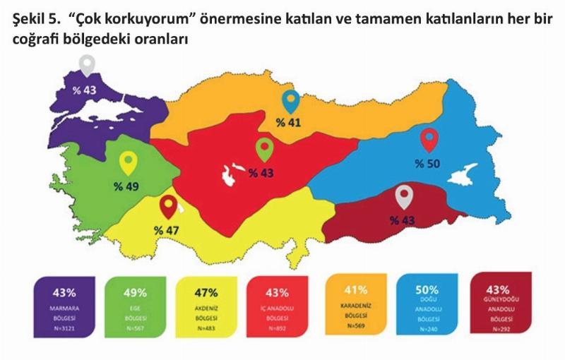 Türkiye'nin risk haritası ve Koronafobi haritasında dikkat çeken benzerlik…