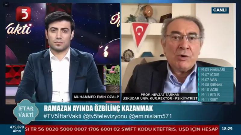 """Prof. Dr. Tarhan: """"Ramazan'ın 3 reçetesi: Doyum erteleme, dayanıklılık, minnettarlık"""""""