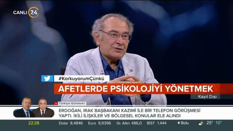 """Prof. Dr. Nevzat Tarhan: """"Afetlerde en büyük tehlike belirsizlik"""""""