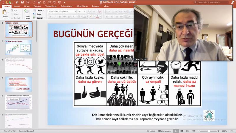 """Prof. Dr. Nevzat Tarhan; """"Eğitim sistemimizde bir reforma ihtiyaç var!"""""""